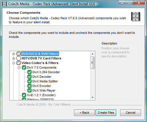 Codec Pack Advanced Silent Install GUI