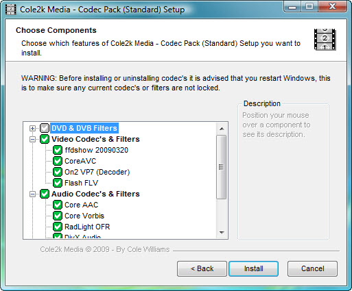 Click to view Codec Pack - Standard 8.0.1 screenshot